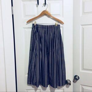 J. Crew navy striped skirt
